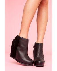 Nasty Gal | Paloma Wedge Boot - Black | Lyst