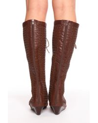 Nasty Gal - Brown Kasa Woven Sandal - Lyst