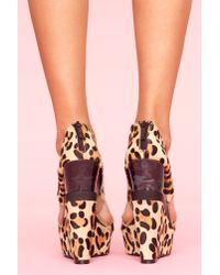 Nasty Gal | Multicolor Leopard Cutout Wedge | Lyst