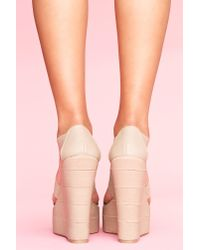 Nasty Gal | Natural Bound Platform Wedge - Taupe | Lyst