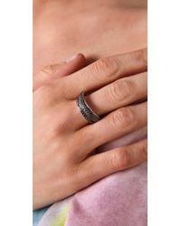Tom Binns - Black Bejeweled Pave Saturn Ring - Lyst