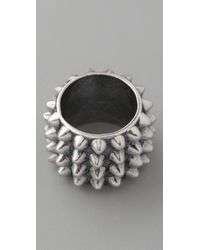 Tom Binns - Metallic Punk Pave Cigar Ring - Lyst