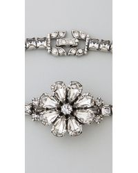 Tom Binns - Metallic Dumont Crystal Flower Bracelet - Lyst
