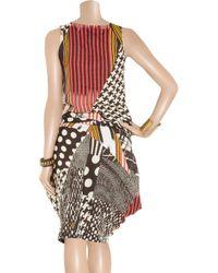 Zero + Maria Cornejo - Red Zazi Printed Linen Dress - Lyst