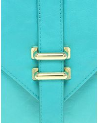 ASOS Collection - Blue Asos Slot Through Portfolio Clutch - Lyst