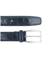 A.Testoni | Mens Blue Crocodile Belt for Men | Lyst