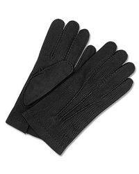 FORZIERI - Men's Cashmere Lined Black Italian Calf Leather Gloves for Men - Lyst