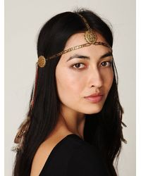 Free People - Metallic Dripped Chains Headpiece - Lyst