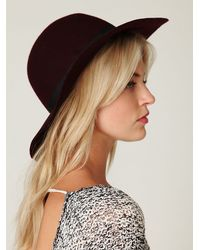 Free People | Purple Jenoah Floppy Brim Hat | Lyst