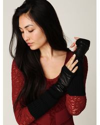 Free People | Black Wendy Leather Glove | Lyst