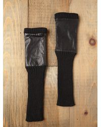 Free People - Black Wendy Leather Glove - Lyst