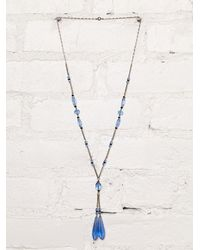 Free People | Blue Vintage S Crystal Bead Necklace | Lyst