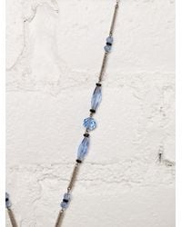 Free People - Blue Vintage S Crystal Bead Necklace - Lyst