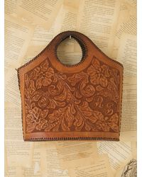 Free People - Brown Vintage Western Tooled Bag - Lyst
