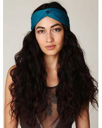 Free People | Blue Turban Headband | Lyst