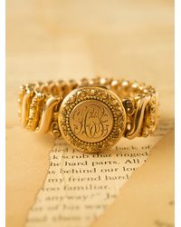 Free People | Metallic Vintage Gold Stretch Locket Bracelet | Lyst