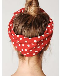 Free People | Red Polka Dot Head Wrap | Lyst