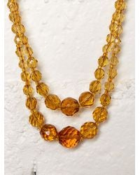 Free People - Yellow Vintage Crystal Choker - Lyst