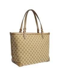 Gucci | Natural Cigar Gg Canvas Tote Bag | Lyst
