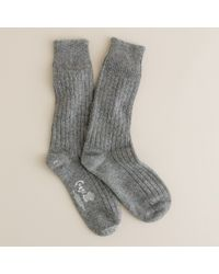 J.Crew | Gray Corgi™ Cashmere Socks | Lyst