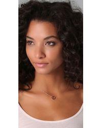 Jennifer Zeuner - Metallic Peace Sign Necklace - Lyst