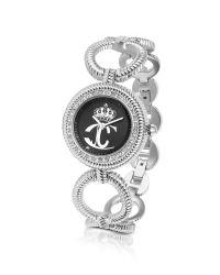 Just Cavalli | Metallic Jc Stud - Crystal Framed Logo Dial Bracelet Watch | Lyst