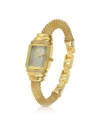 Just Cavalli | Metallic Jc Eshmay - Pave Dial Gold Mesh Bracelet Watch | Lyst