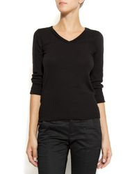 Mango | Black Ribbed Sweater | Lyst