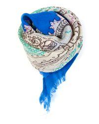 Mango   Blue Touch - Ethnic Handkerchief   Lyst