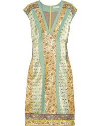 Matthew Williamson - Multicolor Paneled Brocade Dress - Lyst