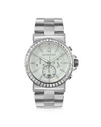 Michael Kors | Metallic Oversized Chronograph Watch with Glitz | Lyst