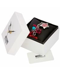 Moschino | Time For Holiday - Pink Stainless Steel Charm Bracelet Watch | Lyst