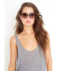 Nasty Gal - Black Leonard Paris Stella Stud Sunglasses - Lyst