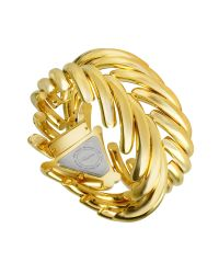 Roberto Cavalli - Metallic Spike - Gold Plated Dress Bracelet Watch - Lyst