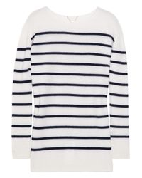 The Row | Blue Striped Cashmere Sweater | Lyst