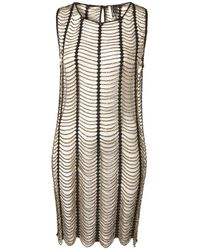 TOPSHOP - Black Knitted Gold Beaded Dress - Lyst