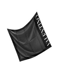 Valentino | Black and White Dots Silk Square Scarf | Lyst