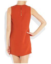 Vince Orange Silk Georgette Shift Dress