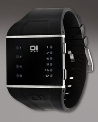 01 The One Watches - Black Slim Square Binary Watch for Men - Lyst