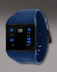 01 The One Watches | Slim Square Watch, Blue for Men | Lyst