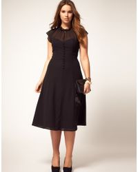 ASOS Collection - Natural Asos Curve Dress with Button Front - Lyst