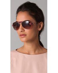 Chloé - Purple Tamaris Aviator Sunglasses - Lyst