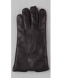 Club Monaco   Black Leslie Slit Gloves   Lyst