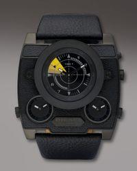 DIESEL | Black Three-zone Sonar Watch for Men | Lyst