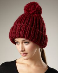 Eugenia Kim | Red Rain Knit Pom-pom Hat | Lyst
