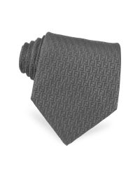 Fendi | Purple All Over Logo Woven Silk Tie for Men | Lyst