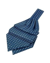 FORZIERI | Blue Polkadot Printed Twill Silk Ascot for Men | Lyst
