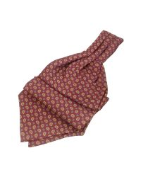 FORZIERI - Brown Mini Paisley Print Twill Silk Ascot for Men - Lyst