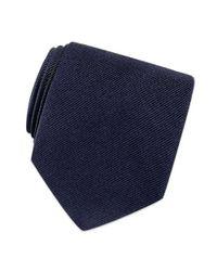 FORZIERI - Blue Solid Twill Silk Tie for Men - Lyst