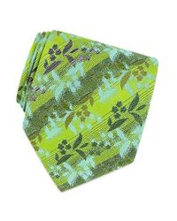 FORZIERI | Green Gold Line - Floral Pattern Woven Silk Tie for Men | Lyst